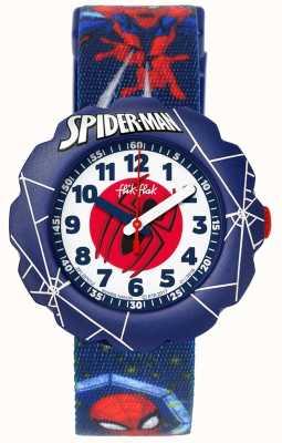 Flik Flak | Spider-Man in Aktion | blaues Gewebedruckband | FLSP012