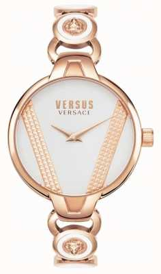 Versus Versace | Heiliger Germain | roségoldfarbenes Edelstahl | weißes Zifferblatt VSPER0419