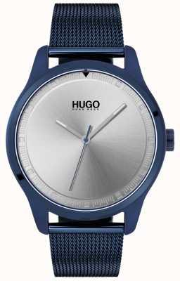 HUGO #move   blaues ip mesh armband   blaues Zifferblatt   1530045