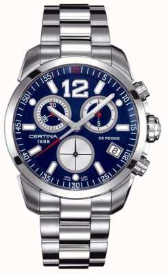 Certina Ds Anfänger | Chronograph | blaues Zifferblatt | rostfreier Stahl C0164171104700