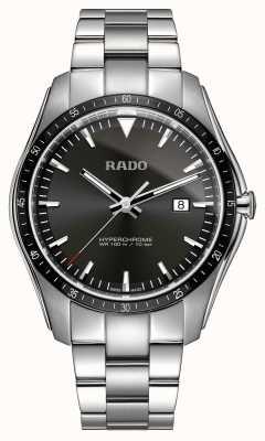 Rado Xxl hyperchrome Edelstahluhr mit schwarzem Zifferblatt R32502153