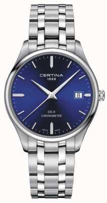 Certina Ds-8 Chronometer | Edelstahlarmband | blaues Zifferblatt | C0334511104100