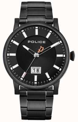 Police | Männer Collin | schwarzes edelstahl armband | schwarzes Zifferblatt 15404JSB/02M