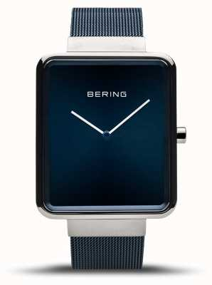 Bering | Herrenklassiker | blaues mesh armband | blaues Zifferblatt | 14533-307
