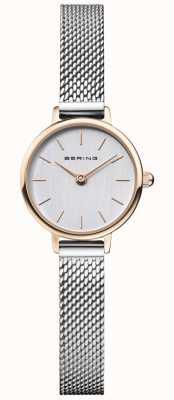 Bering | Frauenklassiker | stahlgeflecht armband | graues Zifferblatt | 11022-064