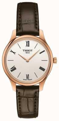 Tissot Frauentradition | braunes Lederband | silbernes Zifferblatt T0632093603800