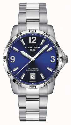 Certina Herren ds Podium | Chronomer | 40mm | blaues Zifferblatt | C0344511104700