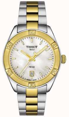 Tissot | damen pr100 sport chic | zweifarbiges Armband | T1019102211100