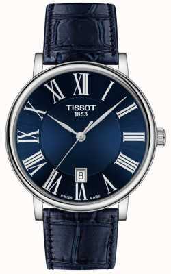 Tissot | Männer | carson premium | blaues Lederband | blaues Zifferblatt | T1224101604300