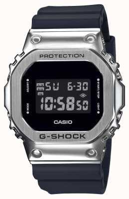 Casio G-Schock Metall Lünette Serie | schwarzes Harzarmband | Digital GM-5600-1ER
