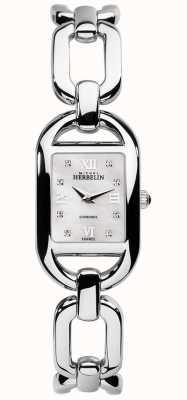 Michel Herbelin Kyudo Damen Armband aus Edelstahl mit Diamant- und Mopp-Zifferblatt 17471/B89
