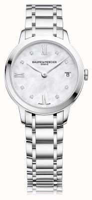 Baume & Mercier Classima Diamant | Edelstahlarmband Perlmutt M0A10326