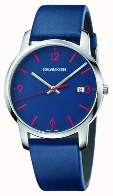 Calvin Klein | Männerstadt | blaues Lederband | blaues Zifferblatt | K2G2G1VX