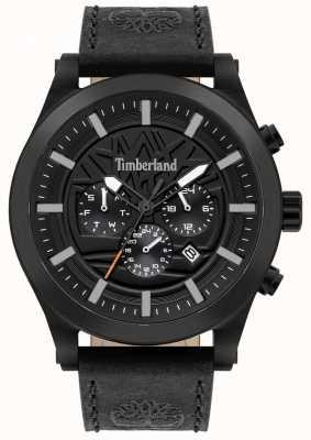 Timberland Straßenkenner | schwarzes Lederband | schwarzes Zifferblatt | 15661JSB/02