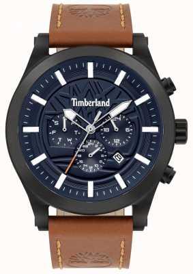 Timberland Straßenkenner | braunes Lederband | blaues Zifferblatt | 15661JSB/03