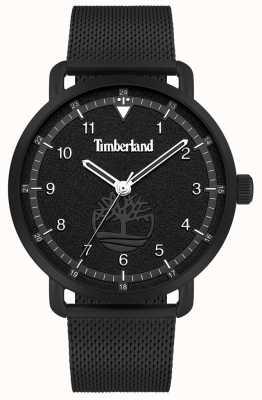 Timberland Lebensstil der Stadt | Armband aus schwarzem Stahlgewebe | schwarzes Zifferblatt | 15939JSB/02MM