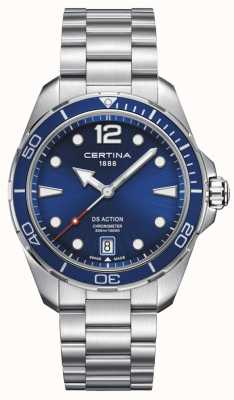 Certina | ds action | Chronometer | blaues Zifferblatt C0324511104700