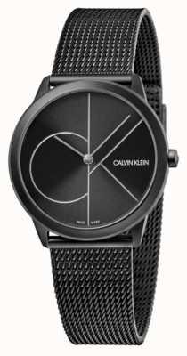 Calvin Klein Unisex   minimal   schwarzes pvd mesh   schwarzes Zifferblatt K3M5245X