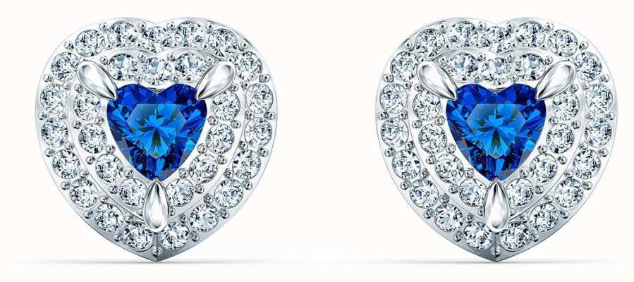 Swarovski   ein Gestüt   Herz Ohrringe aus Saphirglas   5511685