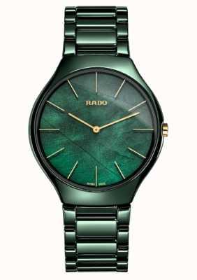 Rado Womens | true thinline | grüne Keramik R27006912