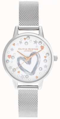 Olivia Burton Rose Gold & Silber Mesh OB16LH12