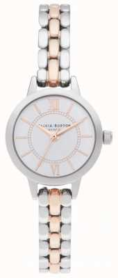 Olivia Burton   Wunderland Silber und Roségold   zweifarbiges Armband OB16MC50