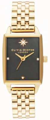 Olivia Burton | Himmlischer Faux schwarzes Perlmuttzifferblatt | goldenes Armband OB16GD60