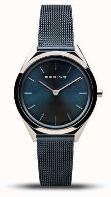Bering | unisex | ultraflach | Armband aus marineblauem Mesh | 17031-307