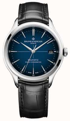Baume & Mercier Clifton | baumatic | cadran blaues zifferblatt | schwarzer Gurt M0A10467