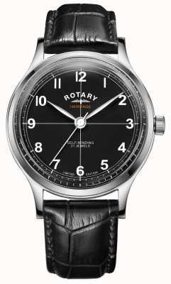 Rotary Erbe der Herren in limitierter Auflage | schwarzes Lederband | GS05125/04