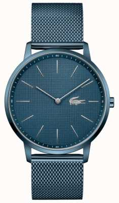 Lacoste Männermond | blaues pvd mesh armband | blaues Zifferblatt 2011057