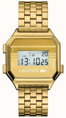 Lacoste Berlin | Digitalanzeige | goldenes pvd armband 2020138