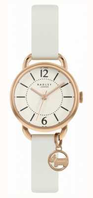 Radley | weißes Lederarmband für Damen | Champagner Zifferblatt | RY2984