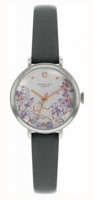 Radley | schwarzes Lederarmband für Damen | Blumendruck Zifferblatt | RY2979