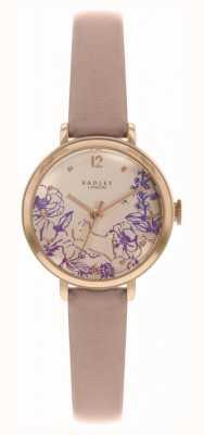 Radley | nacktes Lederband für Damen | Blumendruck Zifferblatt | RY2980