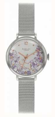 Radley | Stahlarmband für Damen | Zifferblatt mit Blumendruck RY4523