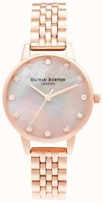 Olivia Burton   Midi Mop Zifferblatt mit Schraubendetail   Roségold Armband   OB16SE10