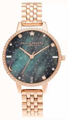 Olivia Burton Nordlichter Demi Zifferblatt Roségold Armband OB16GD66
