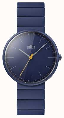 Braun Männer | klassisch | blaues Keramikarmband | blaues Zifferblatt BN0171NVNVG