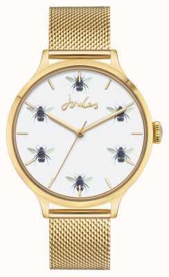 Joules Frauen | Gold PvD Mesh | Zifferblatt der weißen Biene JSL030GM