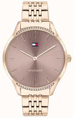 Tommy Hilfiger Grau | roségold ionenbeschichtetes Armband | taupefarbenes Zifferblatt 1782212