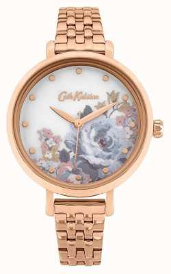 Cath Kidston | Frauen Salto | rosévergoldetes Armband | Blumenzifferblatt CKL087RGM