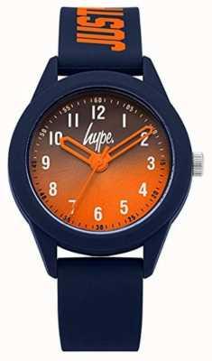 Hype | Marine Silikonarmband | orangefarbenes Zifferblatt | HYK003U