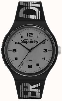 Superdry | Urban XL Racing | schwarzes Silikonband | graues Zifferblatt | SYG269BE