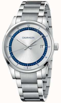 Calvin Klein | Fertigstellung | Edelstahl Silber Armband | silbernes Zifferblatt KAM21146