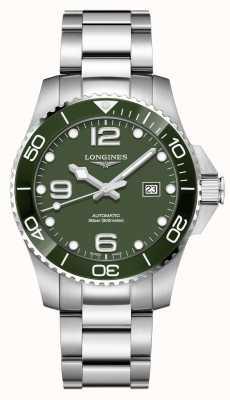 Longines Hydroconquest 43mm automatisch | grünes Zifferblatt | rostfreier Stahl L37824066