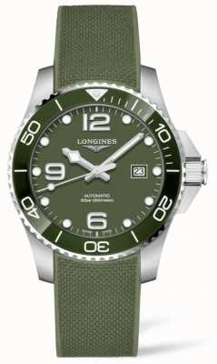 Longines Hydroconquest 43mm | grünes Zifferblatt | Kautschukband L37824069