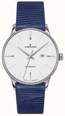 Junghans Meister Damen automatisches blaues Leder 027/4046.00