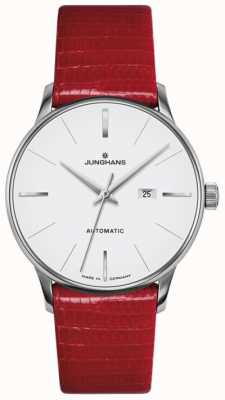Junghans Meister Damen automatisches rotes Leder 027/4044.00