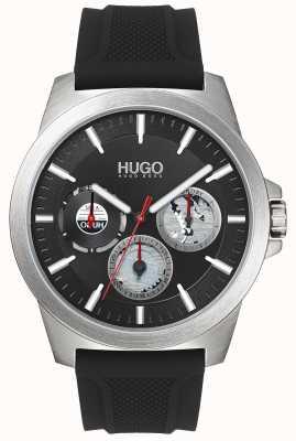 HUGO #twist | schwarzes Kautschukband | schwarzes Zifferblatt | 1530129
